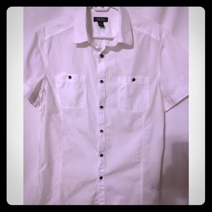 Kenneth Cole men's button down size LG white